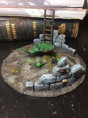 Scratch built warpstone altar